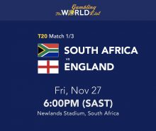 T20 South Africa v England betting tips and prediction