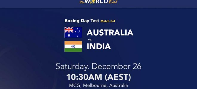 Australia v India tips for Boxing Day Test 2020